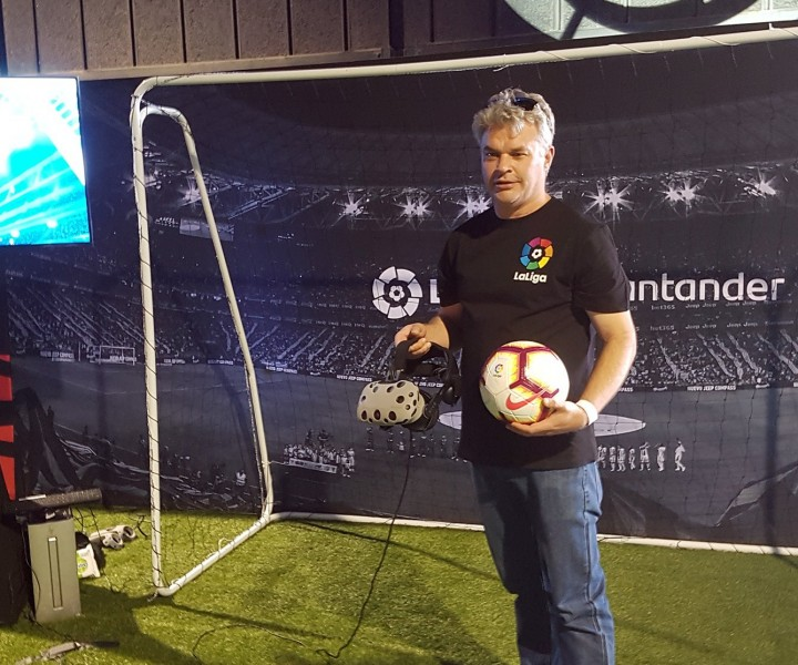 virtual reality soccer game